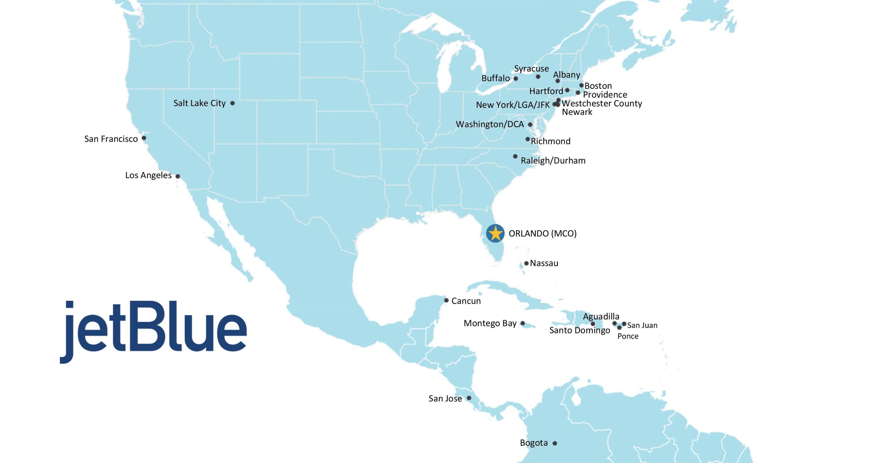 JetBlue Route Map