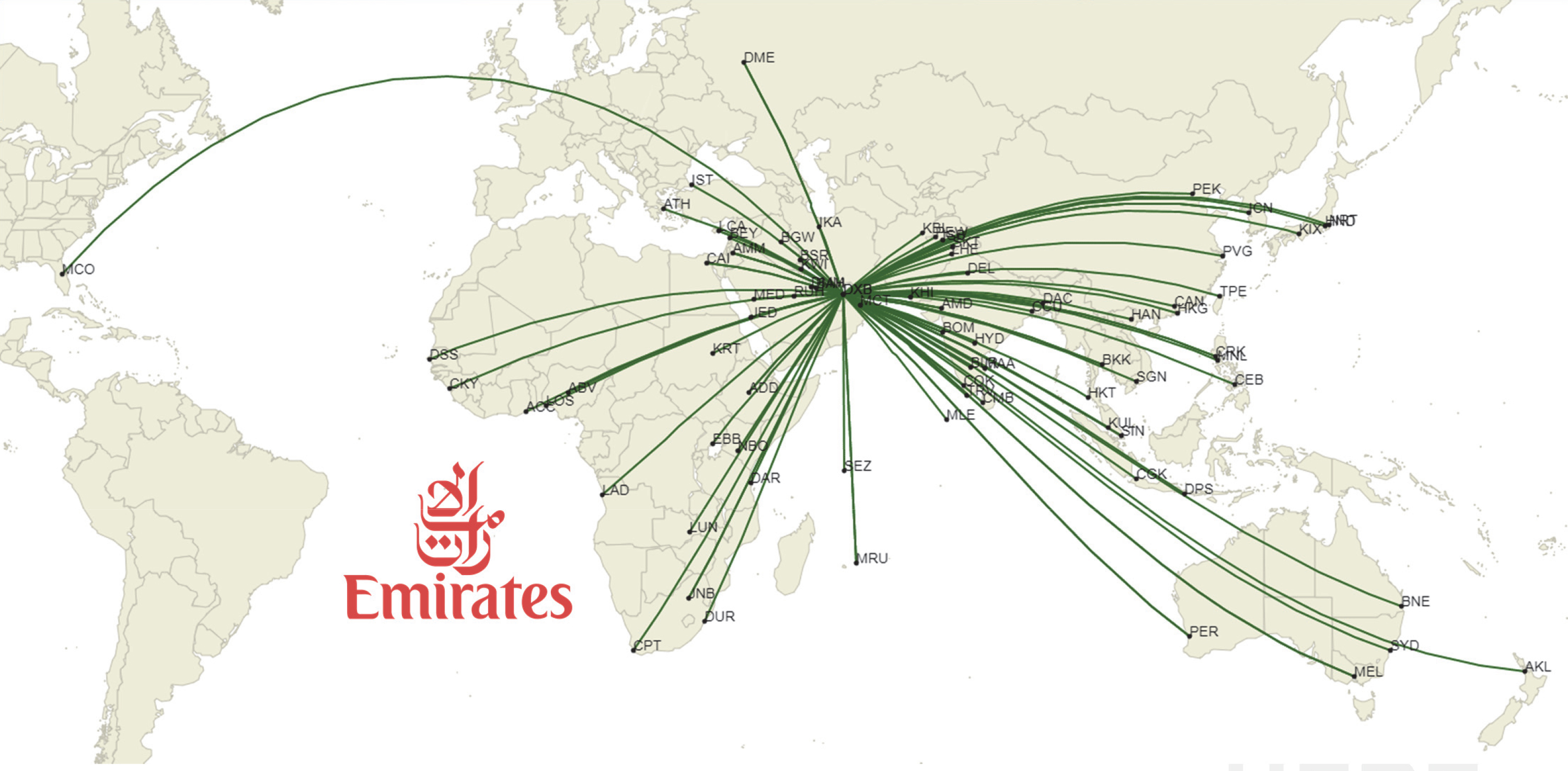 Emirates Route Map
