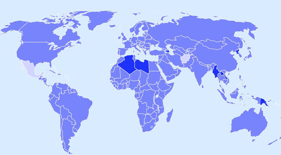 IATA Travel Map