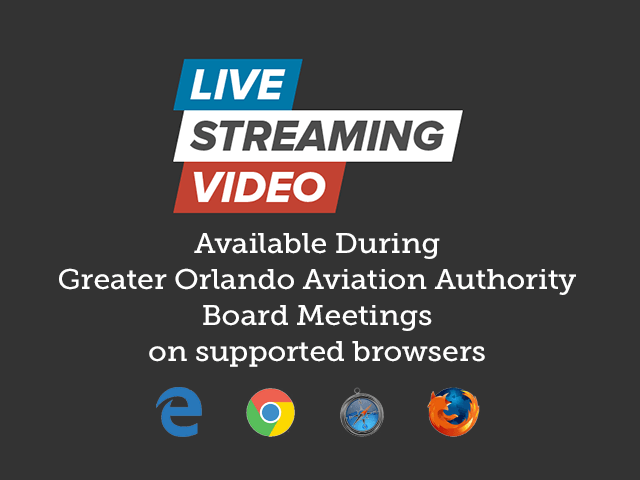 Live Streaming of GOAA Board Meetings