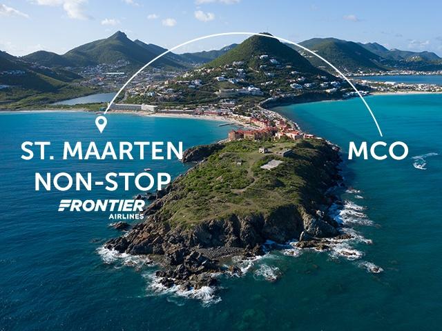 Fly Frontier non-stop to St. Maarten