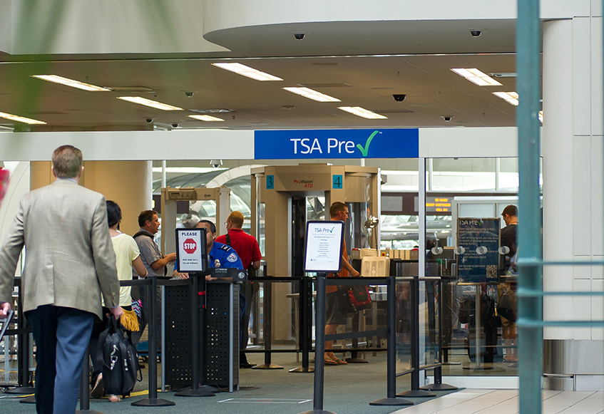 TSA security checkpoint