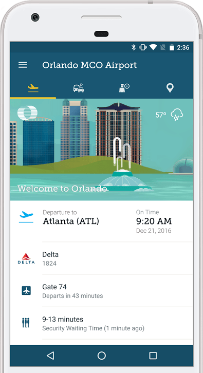 MCO App Flight Information