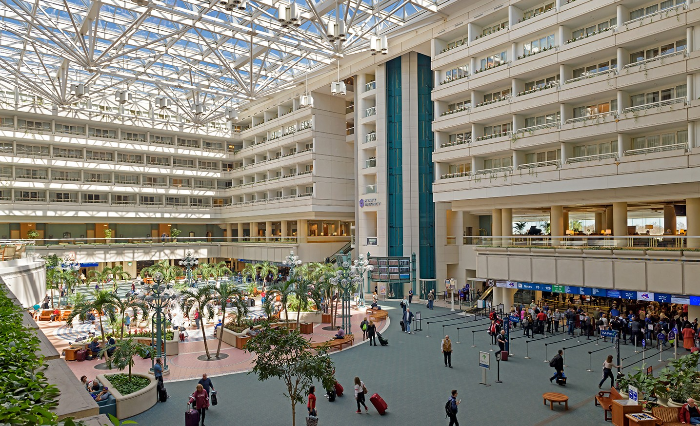 North Terminal East Hall/Hotel Atrium